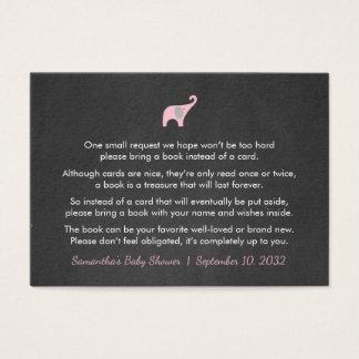 Rosa Elefant-Buchersuchen/-bücher für Baby Visitenkarte