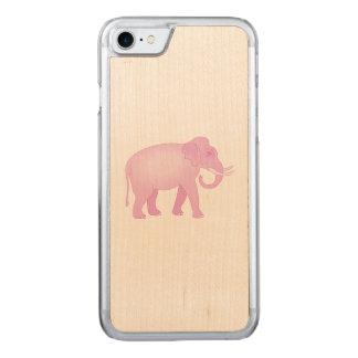 Rosa Elefant Carved iPhone 8/7 Hülle