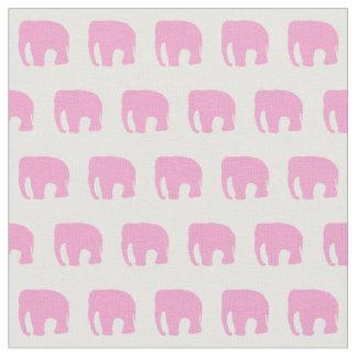 Rosa Elefant-Gewebe, das Gewebe der Kinder Stoff