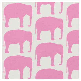Rosa Elefant-Silhouette-Muster Stoff