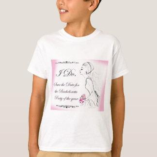 Rosa eleganter Junggeselinnen-Abschieds-Entwurf T-Shirts