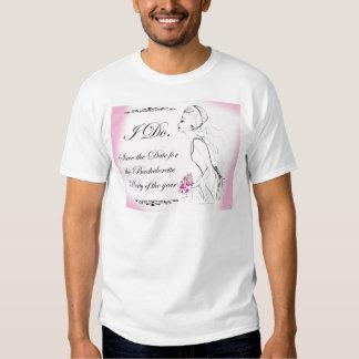 Rosa eleganter Junggeselinnen-Abschieds-Entwurf Tshirt