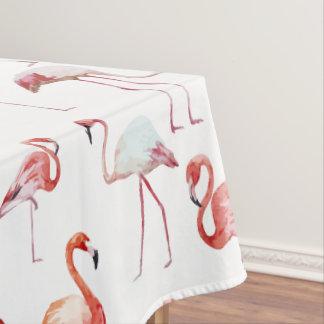 Rosa elegantes Flamingomuster Tischdecke