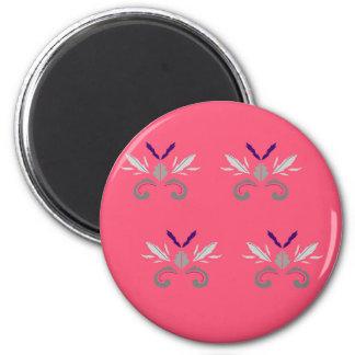 Rosa Elemente LuxusNostalgie Runder Magnet 5,7 Cm