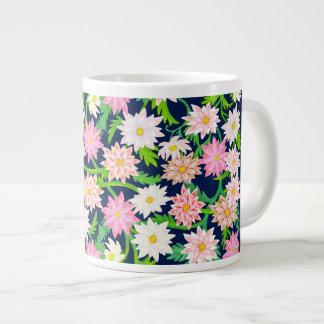 Rosa englische Garten-Blumen-Tunnel-bohrwagenTasse Jumbo-Tasse