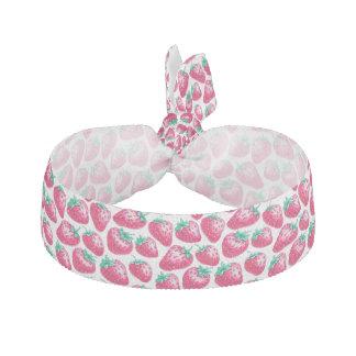 Rosa Erdbeere auf weißem Hintergrund Haarschleife