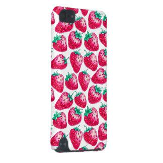 Rosa Erdbeere auf weißem Hintergrund iPod Touch 5G Hülle
