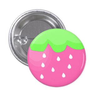 rosa Erdbeere Runder Button 3,2 Cm