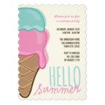 Rosa Erdbeerminzen-Eiscreme-Sommer-Party laden ein Einladungen