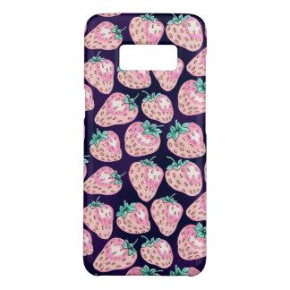 Rosa Erdbeermuster auf lila Hintergrund Case-Mate Samsung Galaxy S8 Hülle