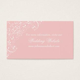 Rosa erröten elegante Vintage Hochzeits-Website Visitenkarte