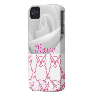 Rosa Eule iPhone 4 Etuis