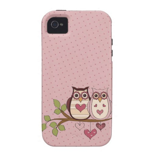 Rosa Eule Sweethoots iPhone 4 Fall iPhone 4 Cover