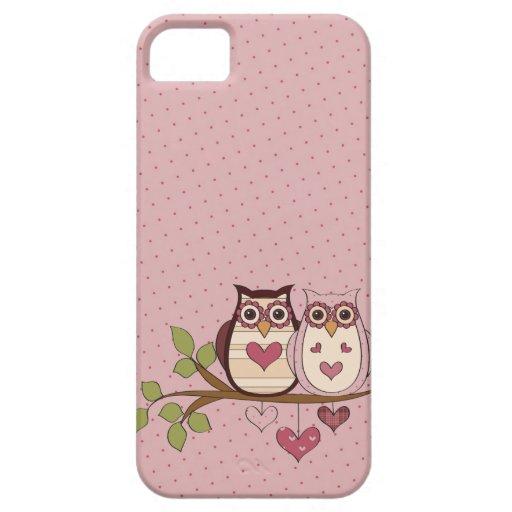 Rosa Eule Sweethoots iPhone 5 Fall iPhone 5 Etuis