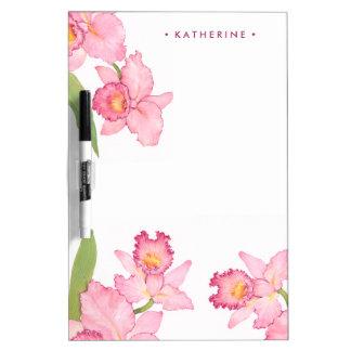 Rosa exotische Watercolor-Blumen Memoboard