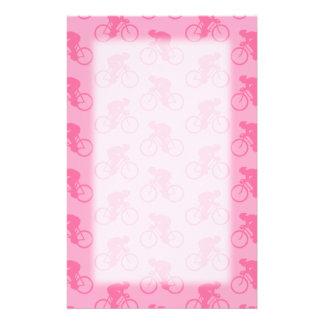 Rosa Fahrrad-Muster Bedrucktes Büropapier