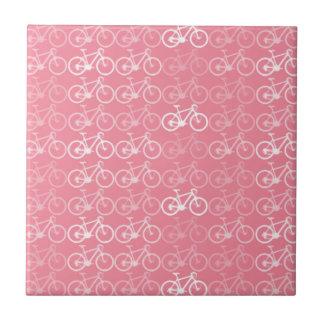 rosa Fahrradmuster Keramikfliese