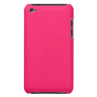 Rosa Fältchen-Heißer schockierender Rosa-Im Norden Barely There iPod Hülle