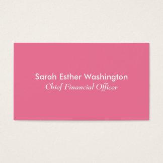 Rosa Farbe Visitenkarte