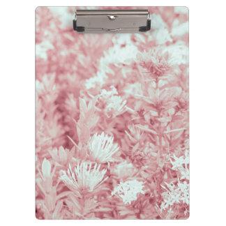 Rosa farbiges Blumen-Foto Klemmbrett