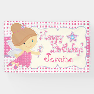 Rosa Fee, Geburtstags-Party Banner