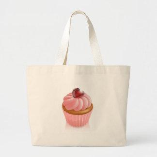 Rosa feenhafter Kuchenkleiner kuchen mit Herzdekor Einkaufstasche