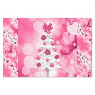 Rosa Feiertags-Baum für ein Girly Thema Seidenpapier