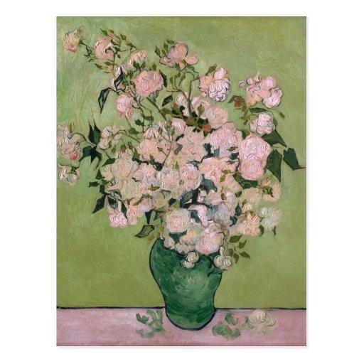 Rosa feine Kunst Van Gogh Rosen-(F682) Postkarte