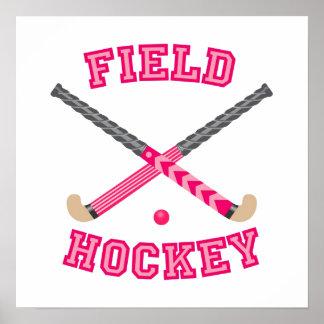 Rosa Feld-Hockey-Logo Poster