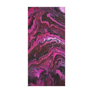 Rosa Felsen-Schichten Leinwanddruck