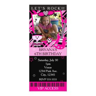 Rosa Felsen-Sternkitty-Katzen-Rosa-Karte VIP-Party Karte