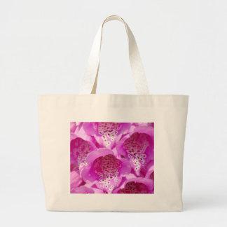 Rosa Fingerhut-Blumen in der Blüte Jumbo Stoffbeutel