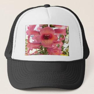 Rosa Fingerhut-Blumen Truckerkappe