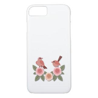 Rosa Finke auf rosa Pfingstrosen iPhone 8/7 Hülle