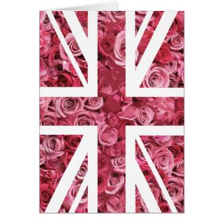 Rosa Flagge Rosen-Gewerkschafts-Jack-Briten Karte