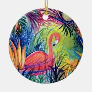 Rosa Flamingo-Aquarell-Kunst-Verzierung Keramik Ornament