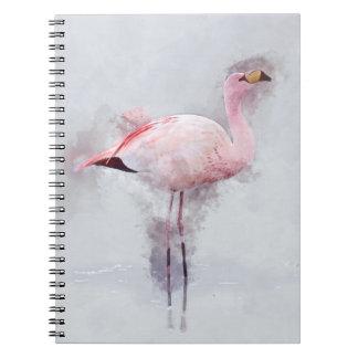 Rosa Flamingo-Aquarell Notizblock