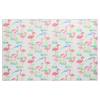 Rosa Flamingo-Aquarell Stoff