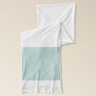 Rosa Flamingo auf aquamarinem nahtlosem Muster Schal