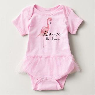 Rosa Flamingo-Baby-Ausstattung mit Ballettröckchen Baby Strampler