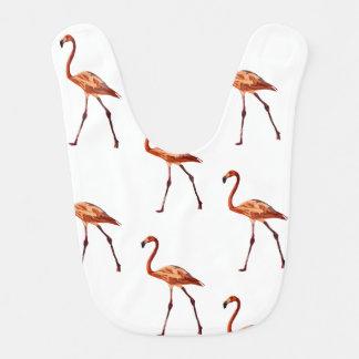 Rosa Flamingo-Baby-Schellfisch Lätzchen