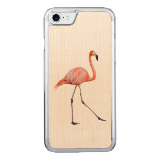 Rosa Flamingo Carved iPhone 8/7 Hülle