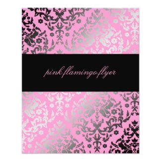 Rosa-Flamingo-Flyer des Damast-311-Dazzling