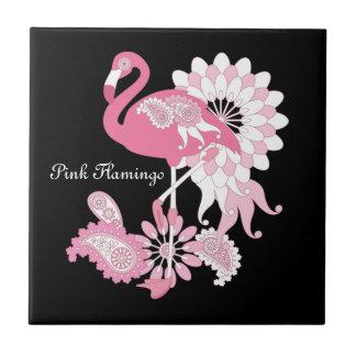 Rosa Flamingo-Girly cooles personalisiertes Keramikfliese