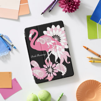 Rosa Flamingo-Girly niedliches personalisiertes iPad Pro Cover