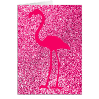 Rosa Flamingo-Glitter-alles Gute zum Geburtstag Karte