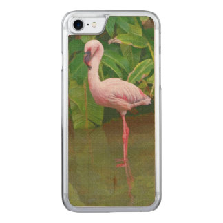 Rosa Flamingo in dem See Carved iPhone 8/7 Hülle