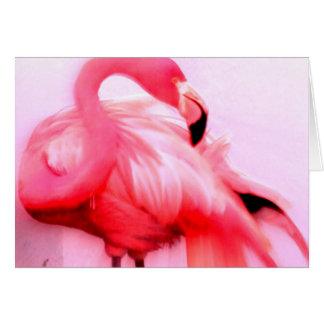 Rosa Flamingo Karte