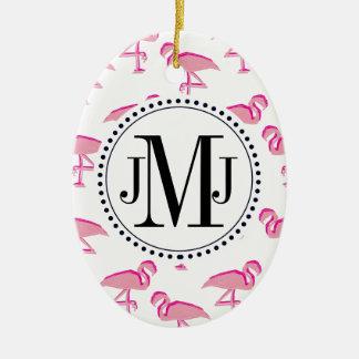 Rosa Flamingo Keramik Ornament