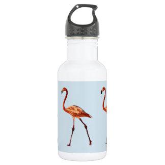 Rosa Flamingo-kundenspezifische Wasser-Flasche Edelstahlflasche